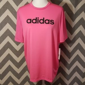 Adidas pink active top size L